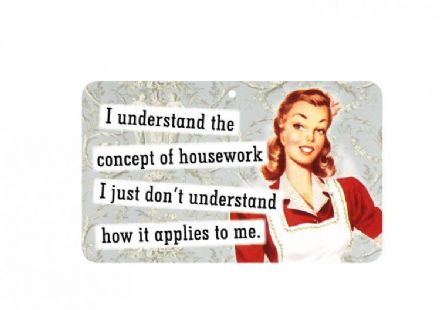 I understand the concept of housework fun sign